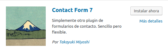 Figura 1: Icono de Contact Form 7 en el repositorio de WordPress